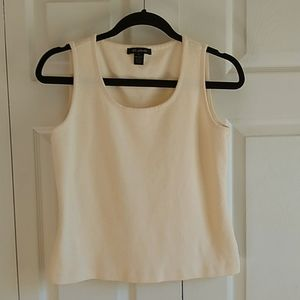 St John cream kitted sleeve less top small